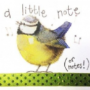 Alex Clark Art - Greeting Card - Little Sparkles - Little Note Blue Tit